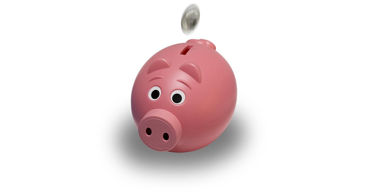 Spardosen und Sparschweine