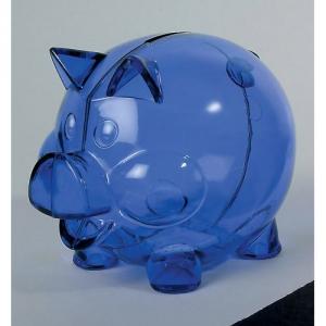 Sparschwein in transparent neue Farben