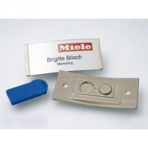 Namensschild mit Magnet und Acrylglasscheibe