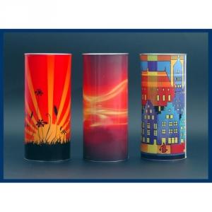 Kerzen mit Ambiente inklusive 4-farbigen Druck