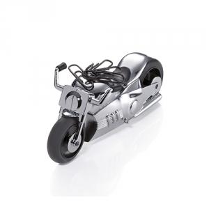 Motorrad als Büroklammerhalter und Briefbeschwerer