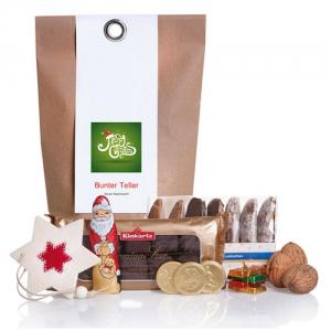 Weihnachtspäckchen mit Lebkuchen