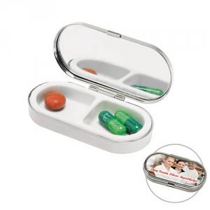 Tablettendose verchromt
