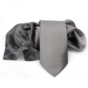 Krawatten Uni wahlweise mit Tuch
