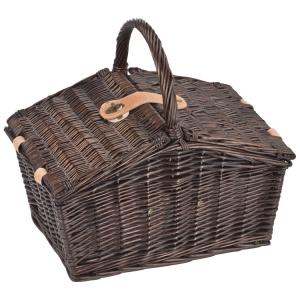 Picknickkorb aus Weiden mit Kühltasche