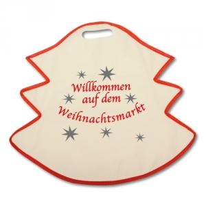 Vliestaschen in Weihnachtsmotiven Stern und Tannenbaum