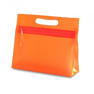 transparente Kosmetiktasche mit Griff