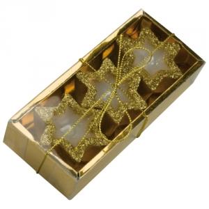 Goldene Stern-Kerzen 3er Set
