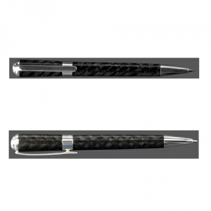 Carbon Füllfederhalter oder Tintenroller Sterlingversilbert