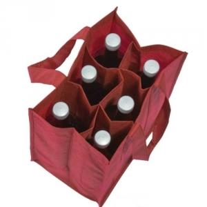6-er Flaschentasche mit gepolstertem Boden