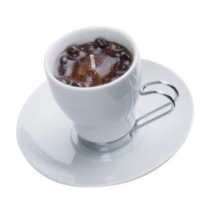 Espresso-Tasse mit Kerze
