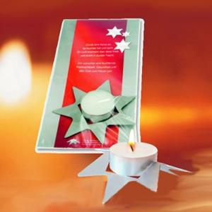 Weihnachtskarte Sternenlicht
