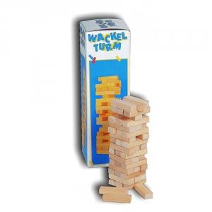Holzturm-Geschicklichkeitsspiel
