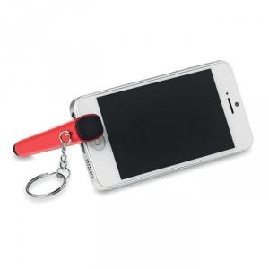 Smartphone-Halter mit integriertem Bildschirmreiniger und Touchpen