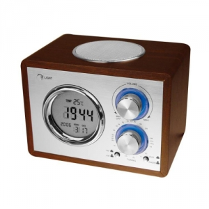 Radio im Nostalgie-Design mit Wecker