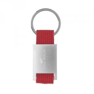 Schlüsselanhänger aus Stahl und farbigem Nylon
