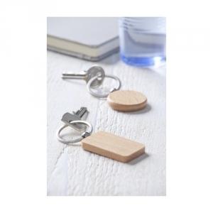 Schlüsselanhänger aus Holz rund