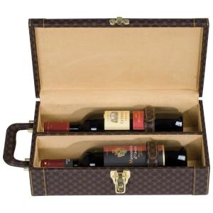 Hochwertiger Weinkoffer für 2 Flaschen