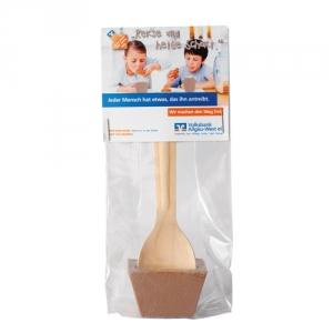 Holzlöffel mit Trinkschokolade