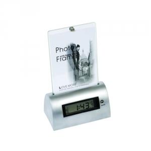 Fotorahmen mit Metall Uhr