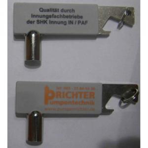 Schlüsselanhänger mit Heizungsentlüftungsschlüssel