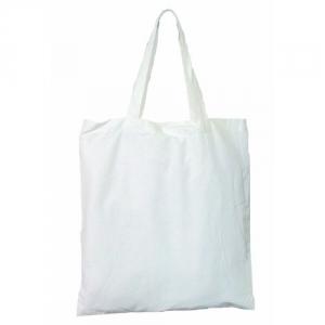 weiße Baumwolltasche 2 kurze Henkel schwere Qualität