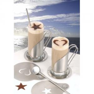Exklusive Kaffeetassen, Teetassen mit Schablonen