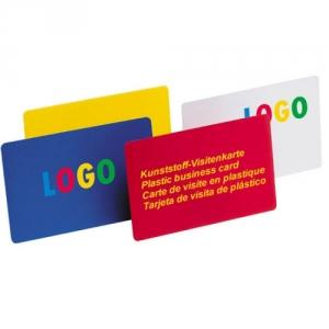 Visitenkarte aus Kunststoff