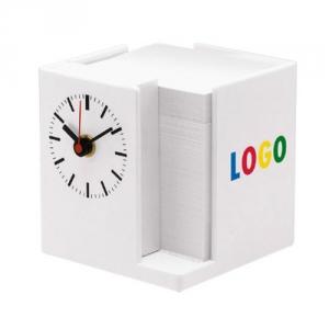Zettelspeicher mit Uhr inkl. Papier