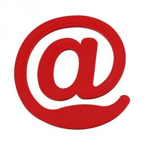 Briefklammer als @ Zeichen