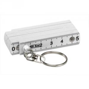Mini Zollstock aus Kunststoff weiß 50 cm