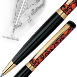 Edler Kugelschreiber mit integriertem Stempel