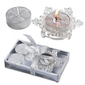 Schneeflocken-Teelichtständer
