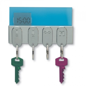 Schlüsselhalter mit Magnet und Uhr
