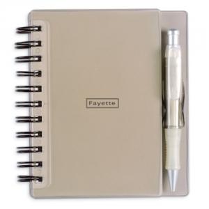 Notizbuch mit Kugelschreiber