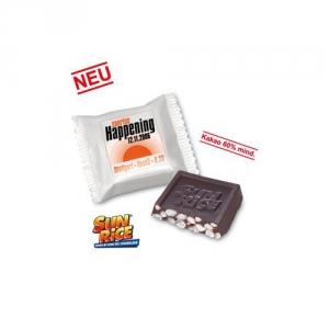 Puffreis-Snack mit Schokolade