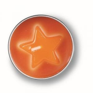 Gelkerzen in der Dose mit Stern
