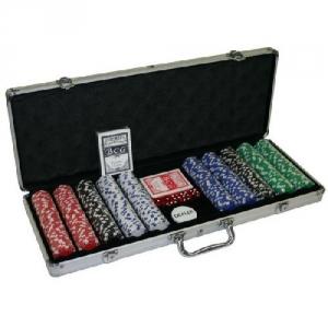 Poker-Set mit Ihren Chips 500