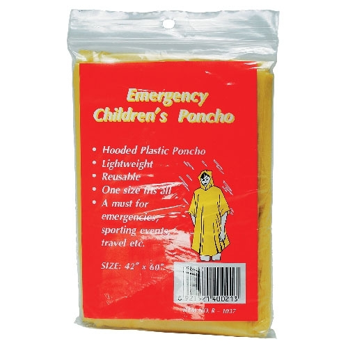 Not regen poncho für kinder
