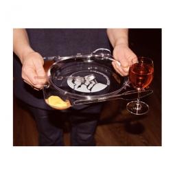 Partyteller mit Besteck und Glashalter