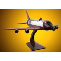 Holz-Flugzeug mit Grappa