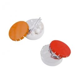 Klick-Kunststoffdose mit Metalldeckel