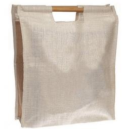 Jute-Tasche mit Bambusgriffen