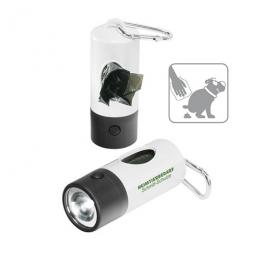 Gassi-Taschenlampe mit Kotbeuteln