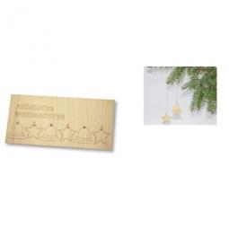 Weihnachtskarte aus Holz