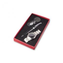 Modernes Geschenkset mit Herrenarmbanduhr