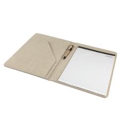 Nachhaltiges Notizbuch aus Baumwolle/Jute