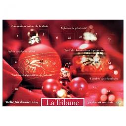 Adventskalender mit weihnachtlichen Schokotäfelchen