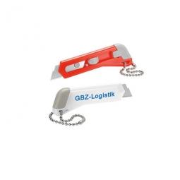 Minipapiermesser mit Kette für Schlüsselbund